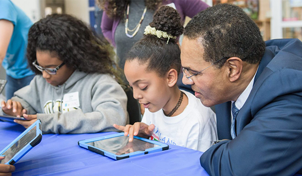 In Hour of Code, UMBC students give Baltimore youth hands-on intro to computing careers