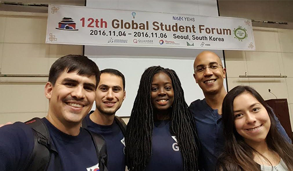 UMBC grad students talk STEM teaching, mentorship, and collaboration in South Korea