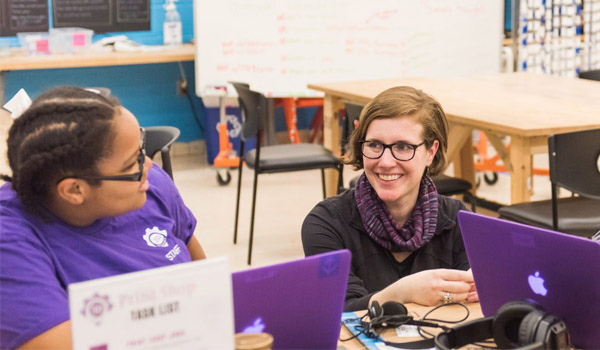 UMBC's Amy Hurst and William Easley connect Baltimore youth with new opportunities at Digital Harbor Foundation 3D printing makerspace