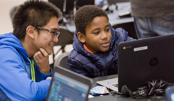 Hour of Code brings Baltimore 3rd and 4th graders to UMBC for fun intro to computing