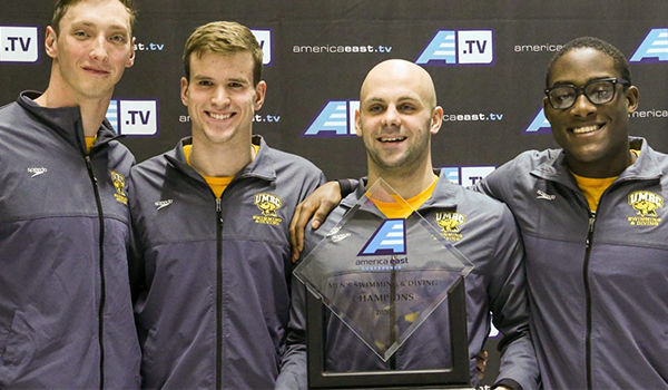 UMBC men's swimming and diving named America East champions, women's team captures 2nd place